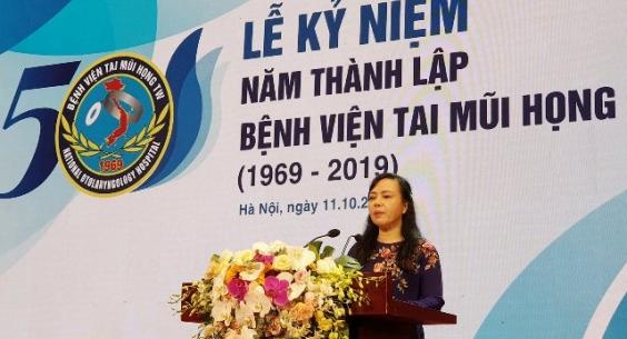 Bộ trưởng Bộ Y tế: Phát triển BV Tai Mũi Họng TW thành trung tâm y khoa tiên tiến thế giới