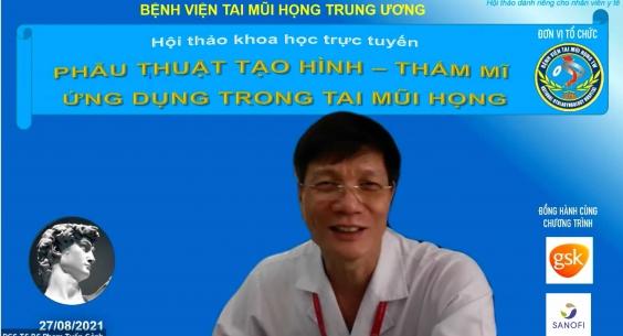 """Hội thảo khoa học """"Cập nhật kiến thức phẫu thuật tạo hình – thẩm mĩ ứng dụng trong Tai Mũi Họng""""."""
